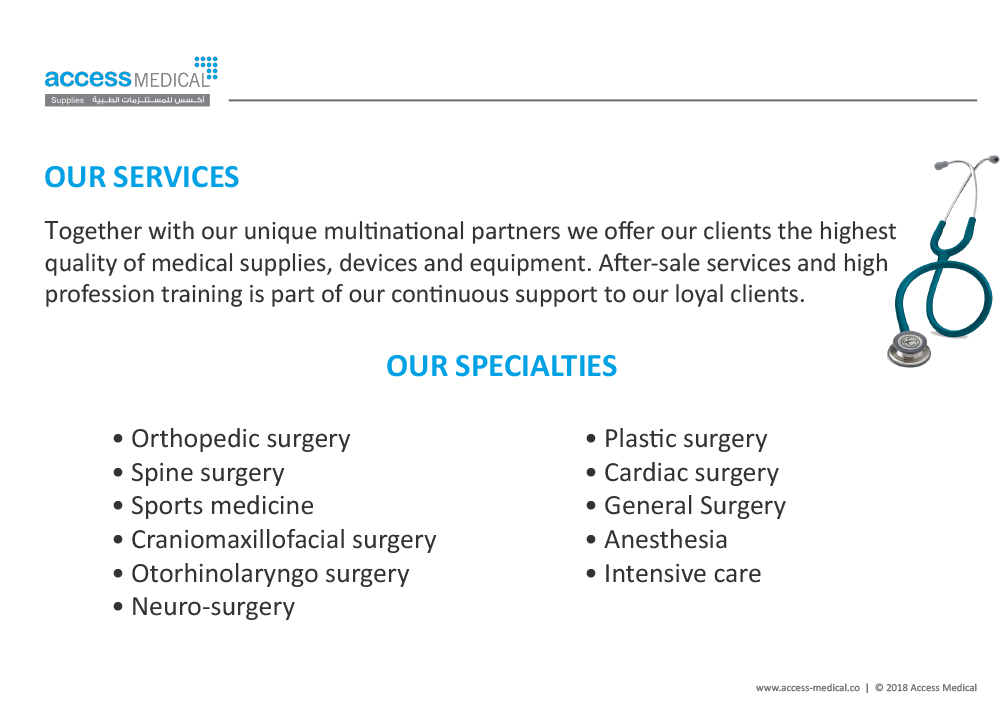 Access Medical Company Profile PDF | Moustafa khalil Portfolio